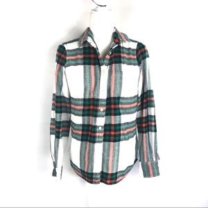 J. Crew The Perfect Shirt Plaid Flannel Size Small